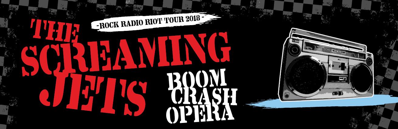 The Screaming Jets & Boom Crash Opera - 'Rock Radio Riot'